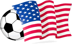 USA Flag With Soccer Ball