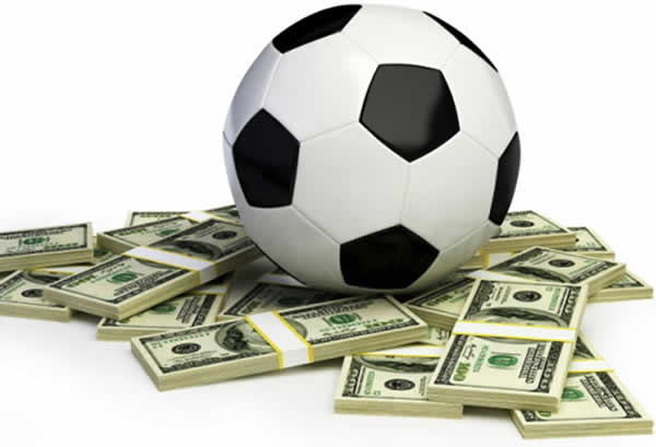 Soccer Ball On Money